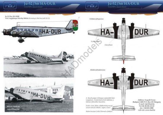HAD Ju-52 HA-DUR