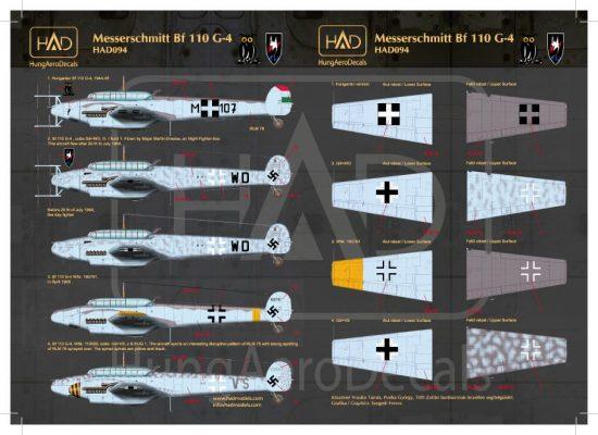 HAD Messerschmitt Bf 110 G-4 (HU M+107, + Luftwaffe)