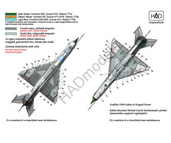"HAD Mig-21MF (Hungarian Air Force 9307, 9308, 4605, 8113 ""Blue kiváló"")"