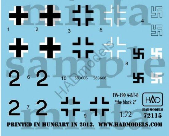 """HAD Fw-190 F-8 / A-8 (Luftwaffe """"black 2"""")"""