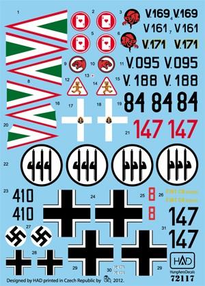 HAD Cr-32 Hungarian , Italian and German
