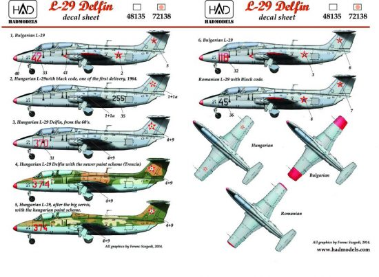HAD L-29 Decal sheet