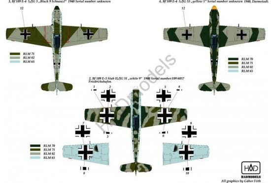 HAD Me Bf 109 E 1/3/4