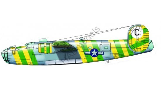 HAD B-24D Green Dragon USAAC No. 41-23683