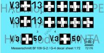 HAD Messerschmitt Bf 109 G-2/G-4 (HunV.3+13; V.3+50)
