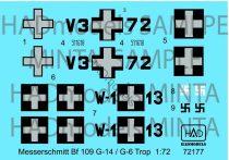 HAD Messerschmitt Bf 109 G-14 / G-6 Trop( HUN V3+72; W-1+13 )