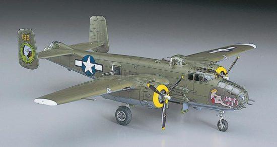 Hasegawa B-25J Mitchell makett