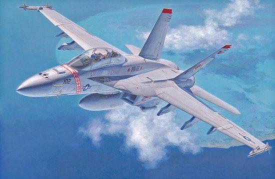 Hasegawa F/A-18F Super Hornet makett