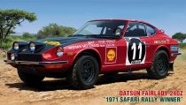 Hasegawa Datsun Fairlady 240Z 71 Safari Rally Winner makett