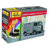 """Heller Citroen Fourgon HY """"Tube"""" szett makett"""