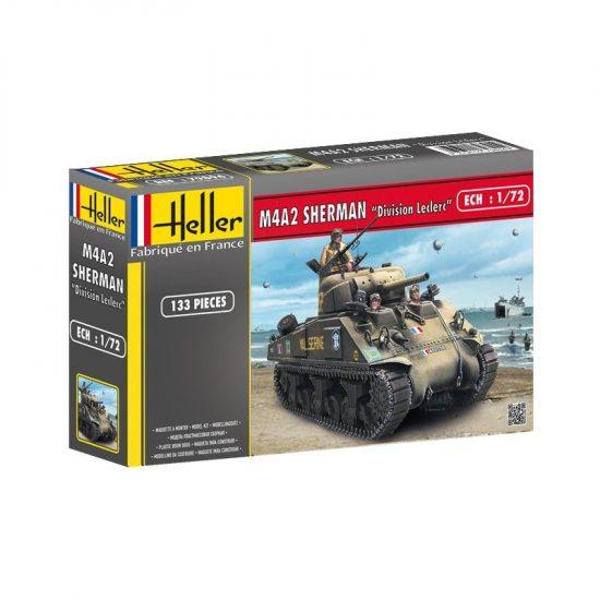 "Heller M4A2 Sherman ""Division Leclerc"" makett"