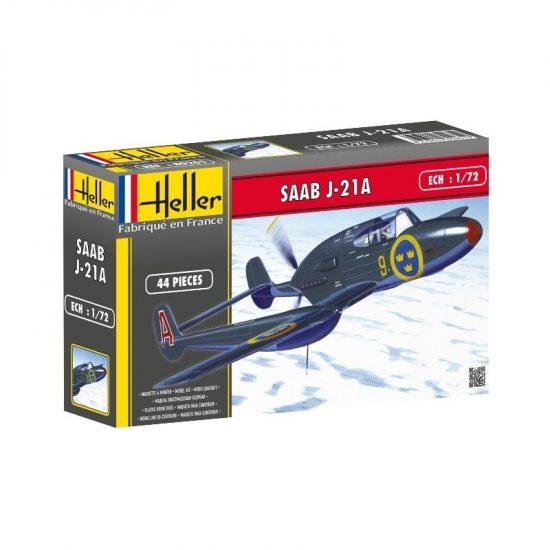 Heller Saab J21 makett