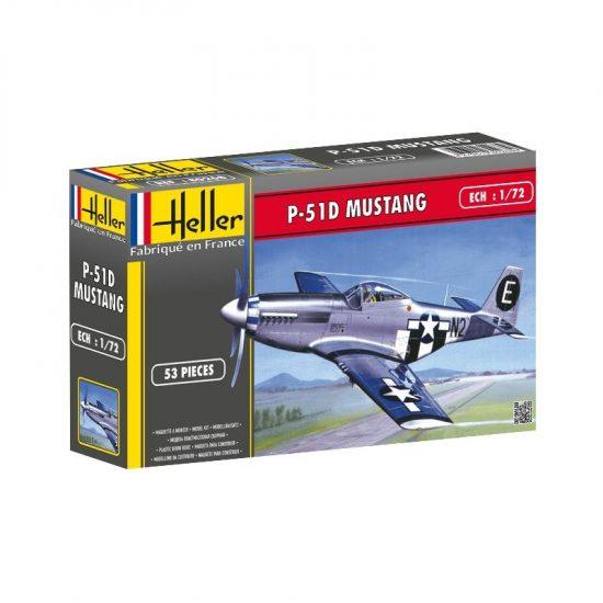 Heller North American P-51 Mustang makett