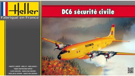 Heller DC6 Securite Civile makett
