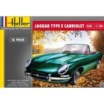 Heller Jaguar Type E 3L8 OTS Cabriolet makett