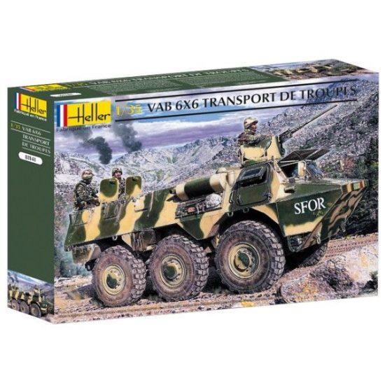 Heller Truppentransporter VAB 6x6 makett