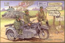 IBG BMW R12 with sidecar military versions makett
