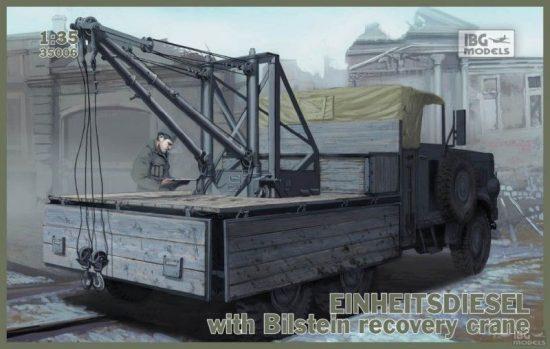 IBG Einheitsdiesel with Bilstein recovery crane makett