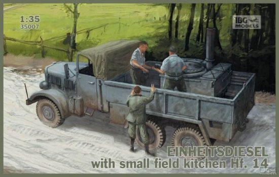 IBG Einheitsdiesel with small field kitchen Hf.14 makett