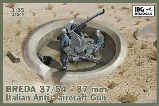 IBG Breda 37/54 anti-aircraft gun makett