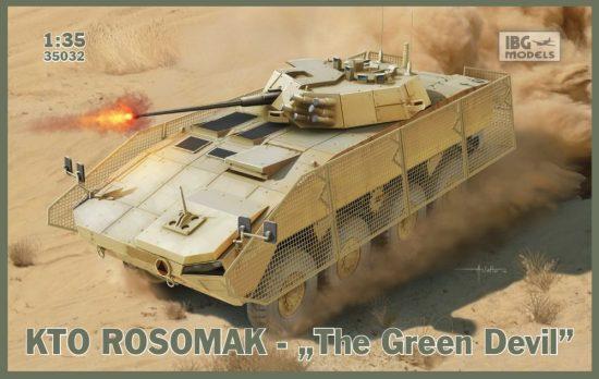 """IBG KTO Rosomak - Polish APC """"The Green Devil"""" makett"""