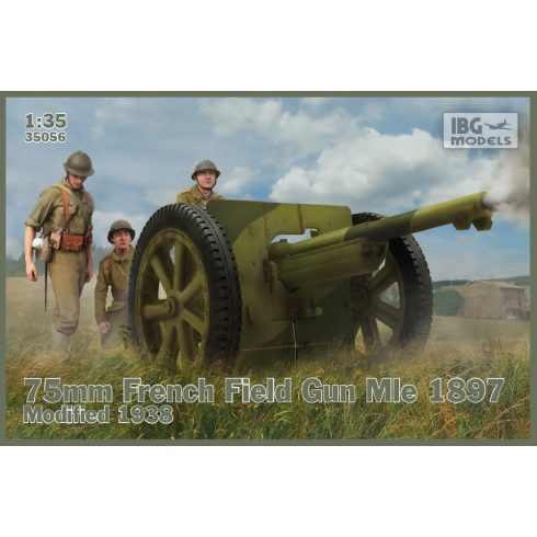 IBG 75mm French Field Gun Mle 1897-Modified 1938 makett