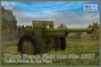 IBG 75mm French Field Gun Mle 1897-Polish Forces in the West makett
