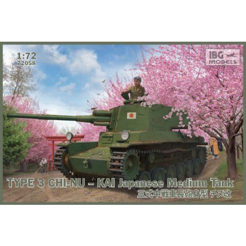 IBG Type 3 Chi-Nu Kai Japanese Medium Tank makett