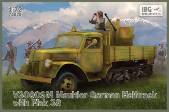 IBG V3000SM Maultier with Flak 38 makett