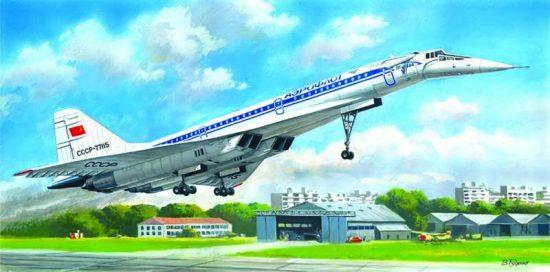 ICM Tupolev Tu-144D Soviet Supersonic Passenger Aircraft makett
