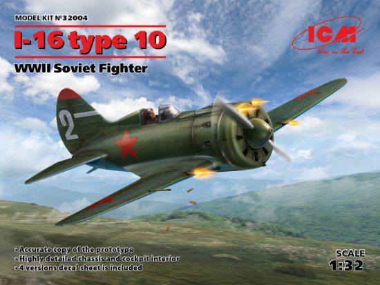 ICM Polikarpov I-16 type 10 makett