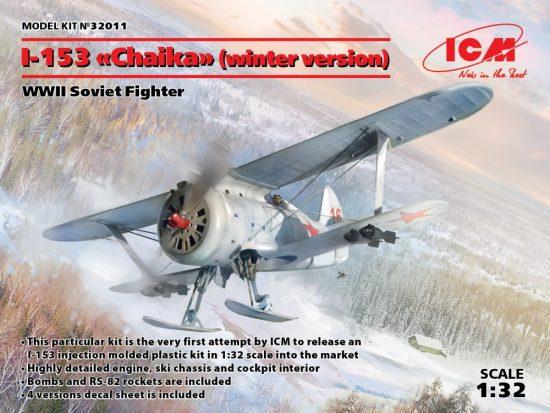 ICM Polikarpov I-153 (winter version on skis) makett
