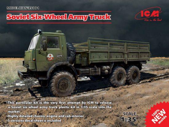 ICM Kamaz Soviet Six-Wheel Army Truck makett