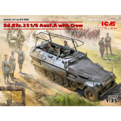 ICM Sd.Kfz.251/6 Ausf.A with Crew makett