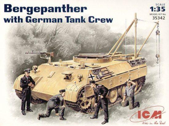 ICM Bergepanther with German Tank Crew makett