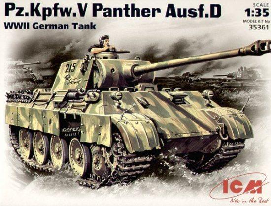 ICM Pz.Kpfw.V Panther Ausf.D makett