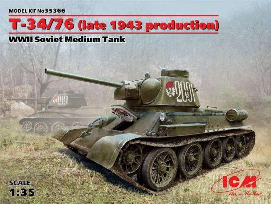 ICM Т-34/76 (late 1943 production) makett