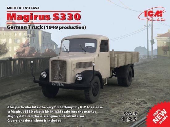 ICM Magirus S330 German Truck (1949 production) makett