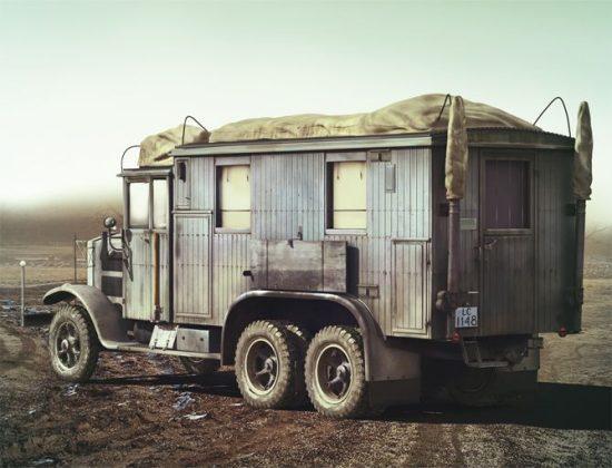 ICM Krupp L3H163 Kfz.72 German Radio Truck makett