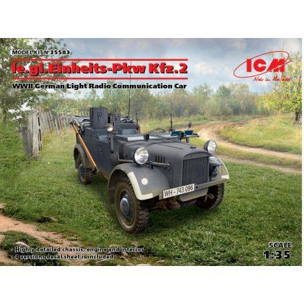ICM  le.gl.Einheitz-Pkw KFZ.2, German Ligh Radio Communication Car makett