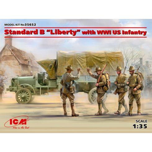 ICM SStandard B Liberty with WWI US Infantry makett