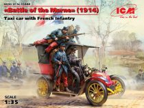 ICM Battle of the Marne (1914) Taxi car wit French Infantry makett