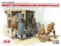 ICM Model T 1917 Ambulance with US Medical Personnel  Team