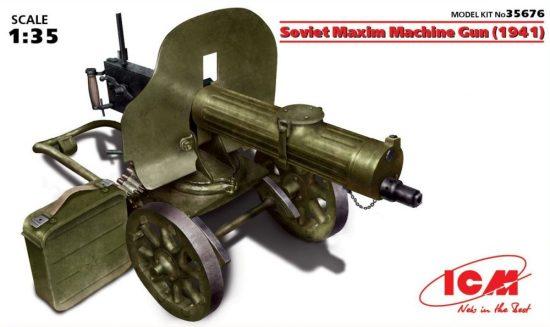 ICM Soviet Maxim Machine Gun (1941) makett