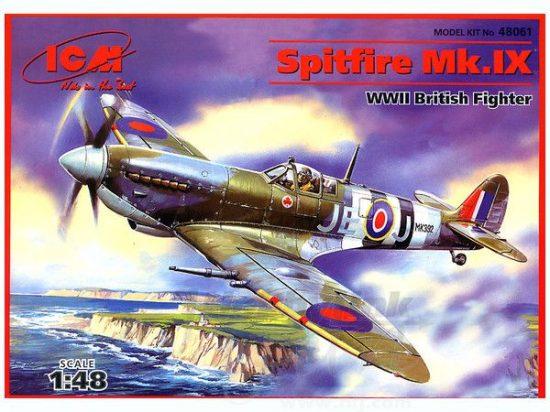 ICM Spitfire Mk.IX WWII British Fighter makett