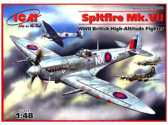 ICM Spitfire Mk.VII RAF makett
