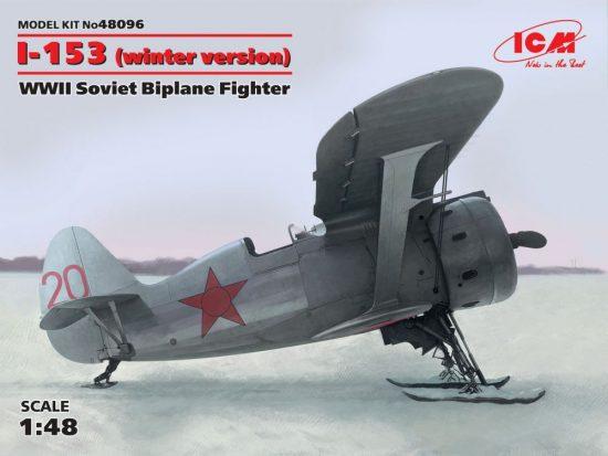 ICM Polikarpov I-153 WWII Soviet Biplane Fighter (winter version)