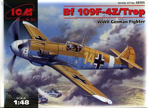 ICM Messerschmitt Bf 109F-4Z Tropical makett