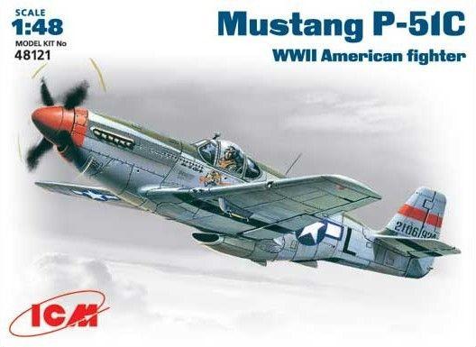 ICM North-American P-51C Mustang makett