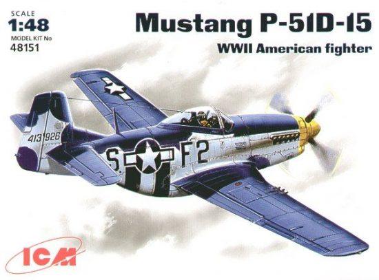 ICM North-American P-51D-15 Mustang makett